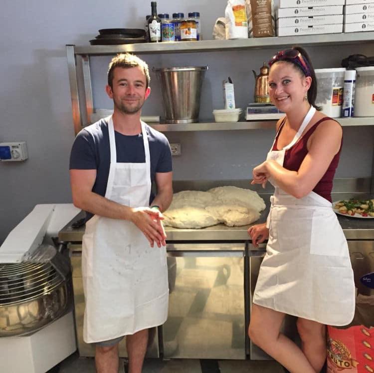 Deb&Ben pizza making