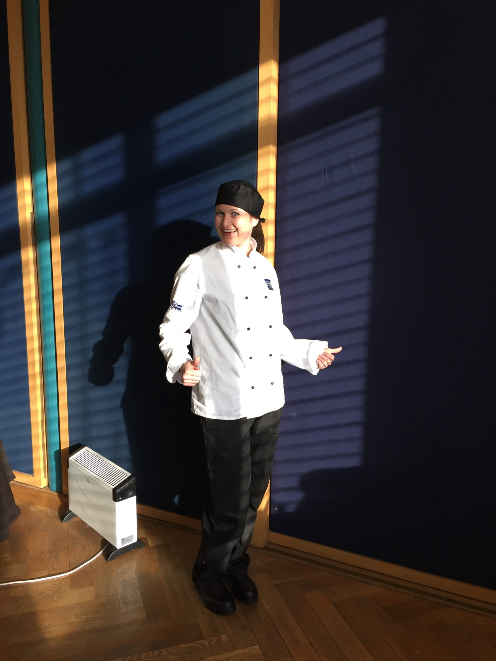 Debbie in chef whites