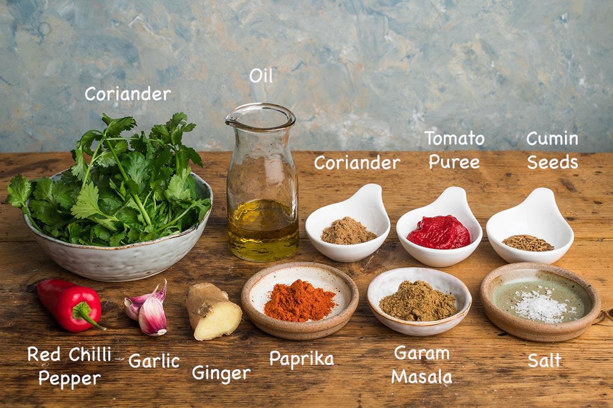 tikka masala paste ingredients.