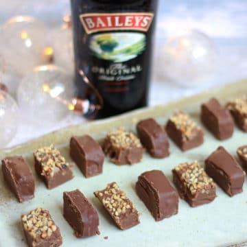fudge baileys on a platter