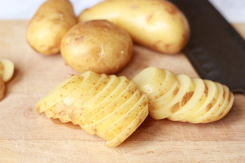 cypriot potatoes sliced
