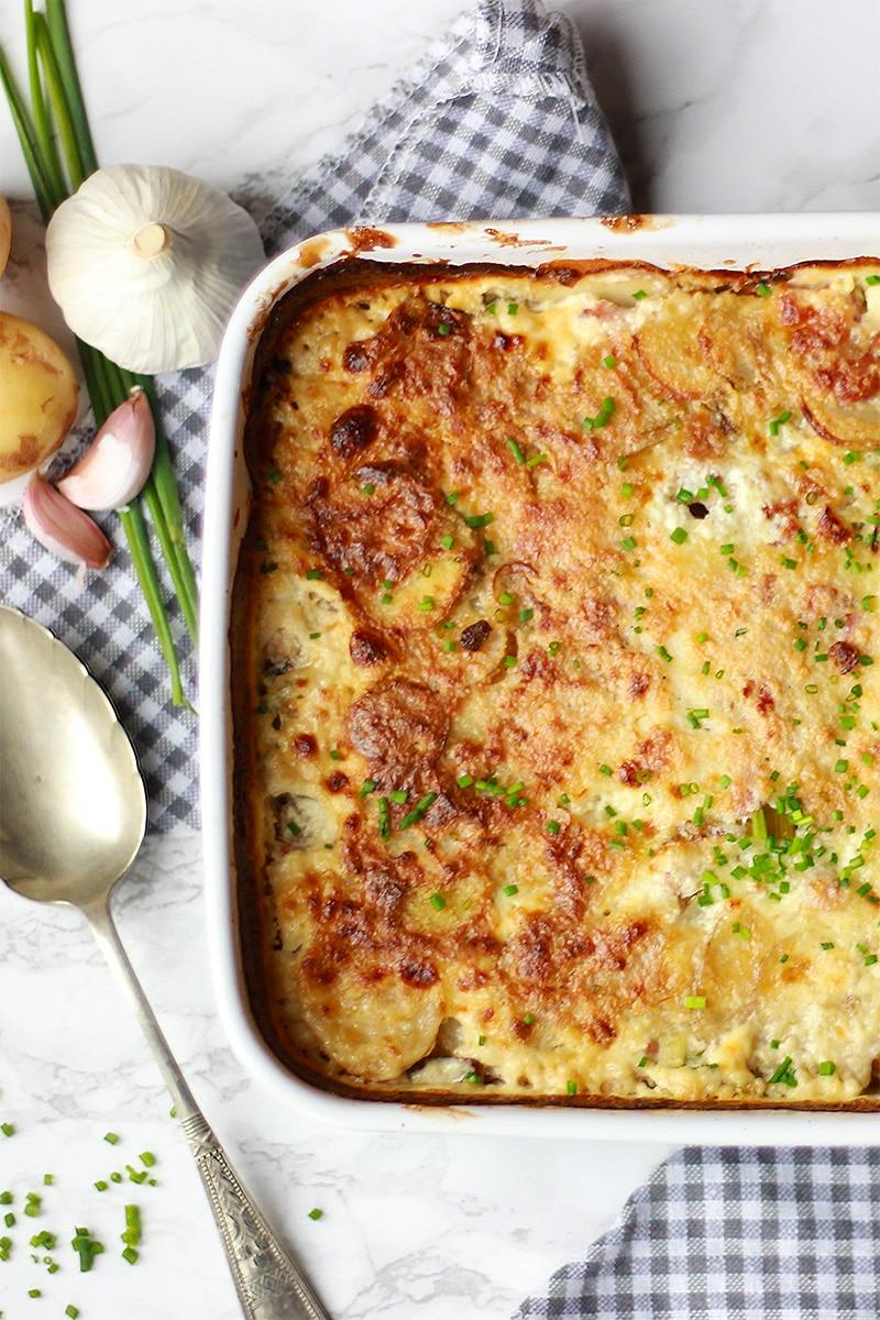 haddock, leek and cypriot potato dauphinoise