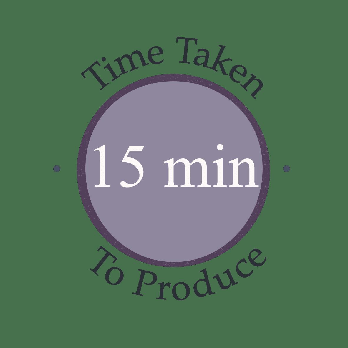 15 minutes to make recipe