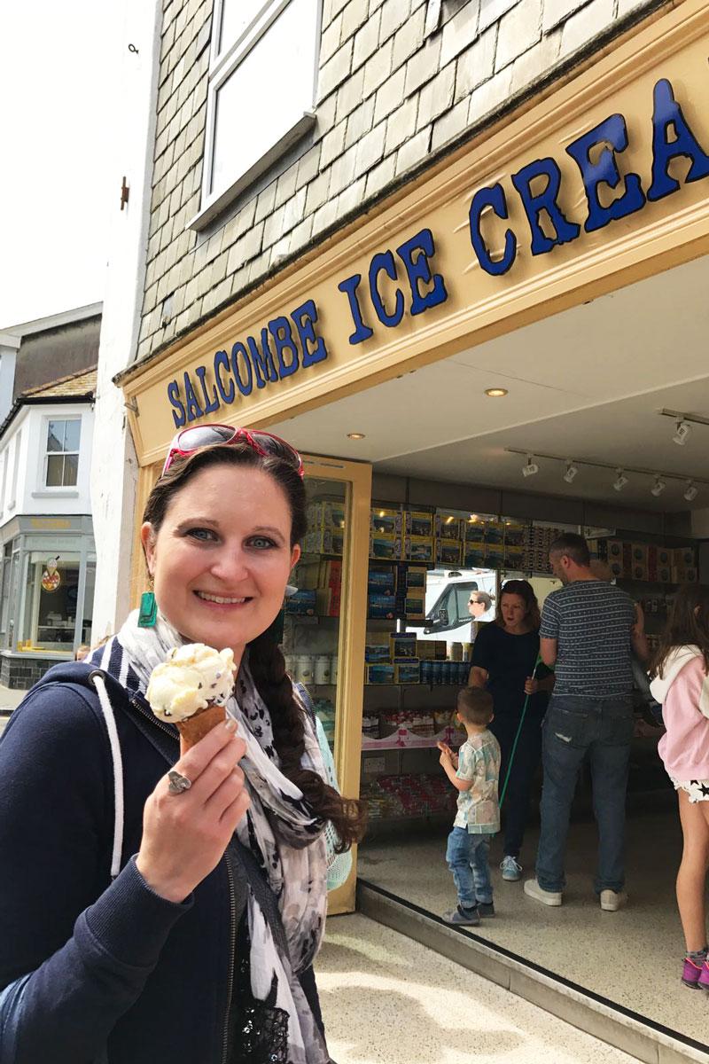 food face salcombe ice cream