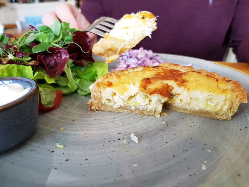 smoked haddock leek and gruyere tart the searoom st ives