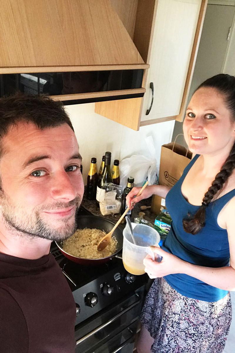 south wales caravan wild garlic risotto
