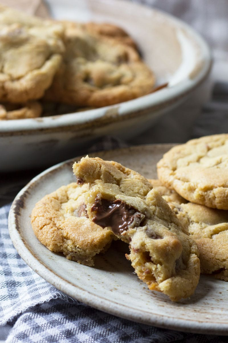 soft bake cookies on a plate