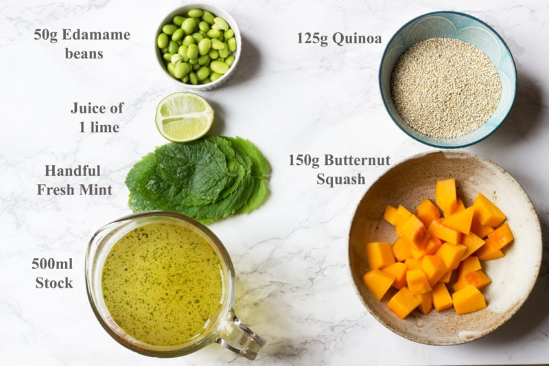 Quinoa ingredients listed