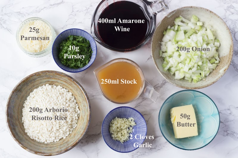 Amarone listed ingredients