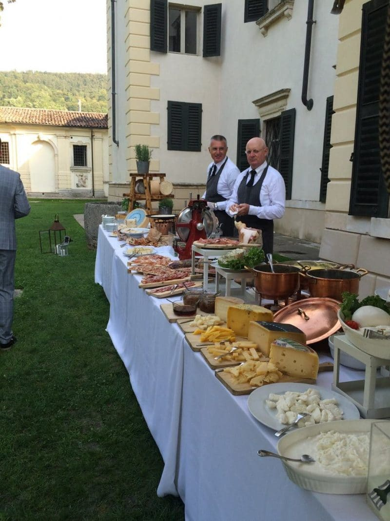italian wedding canapes villa bertani