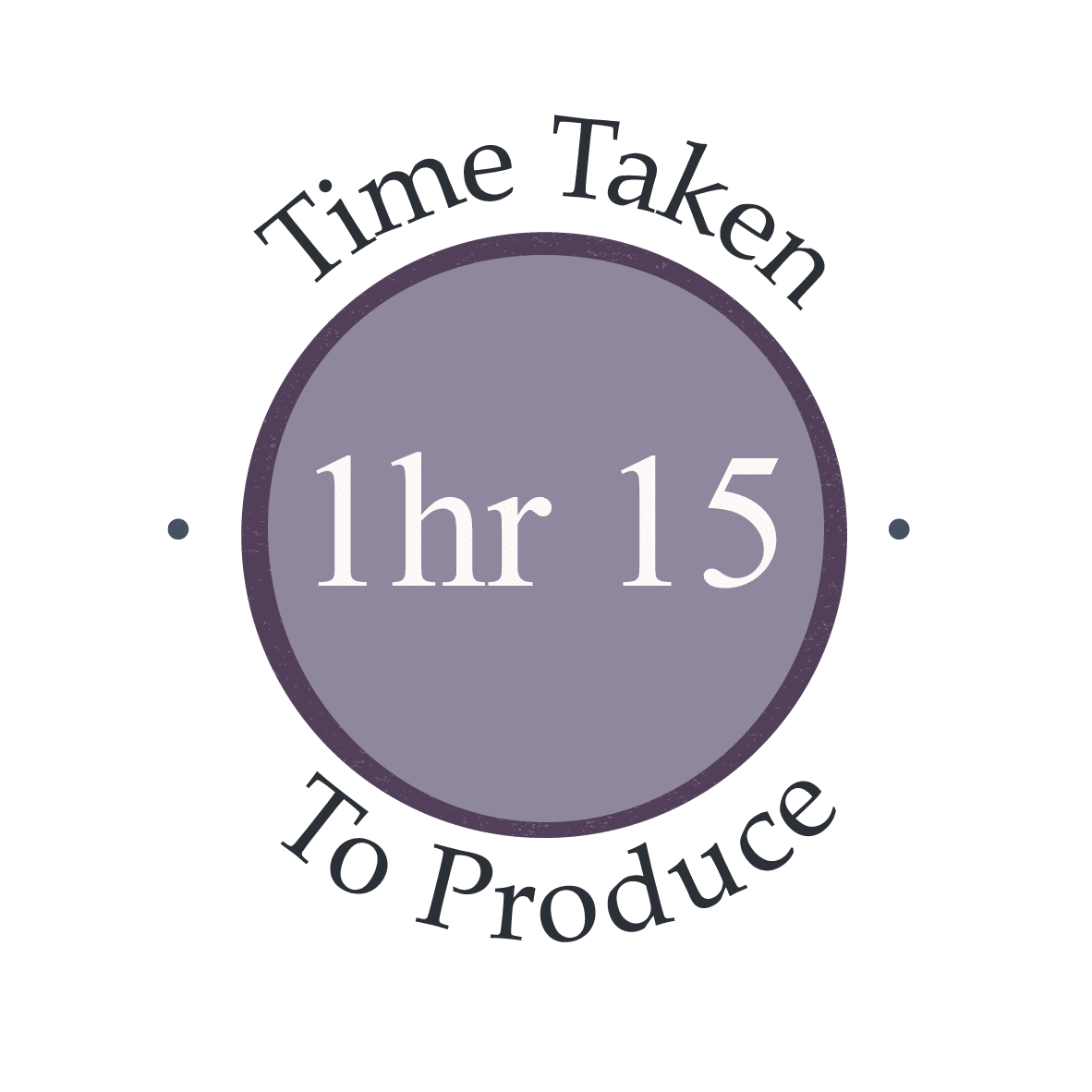 1 hour 15 minutes to make recipe