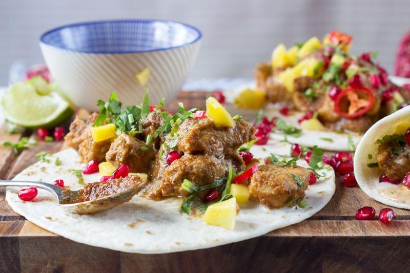 chicken tacos with jerk sauce