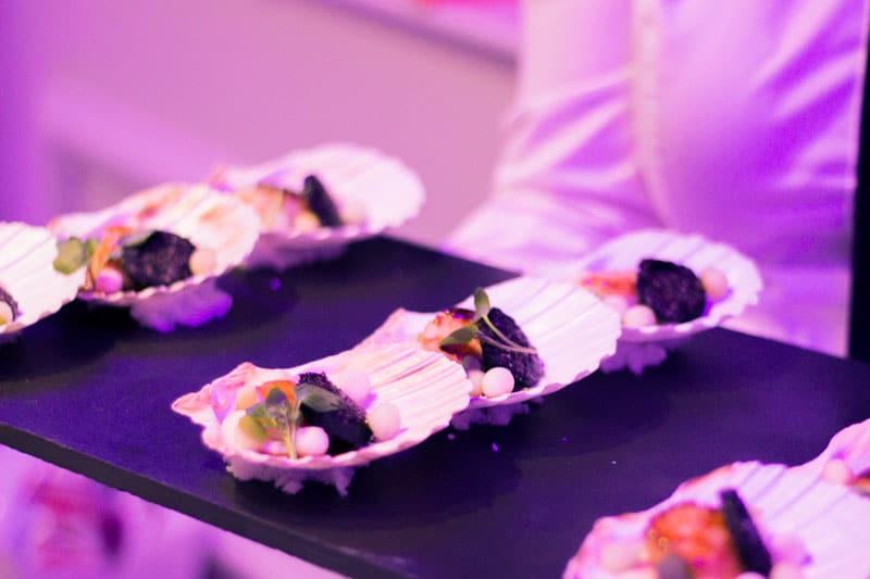 scallops on a platter Malmaison