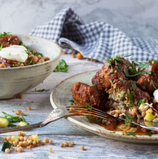 moroccan meatballs with giant cous cous