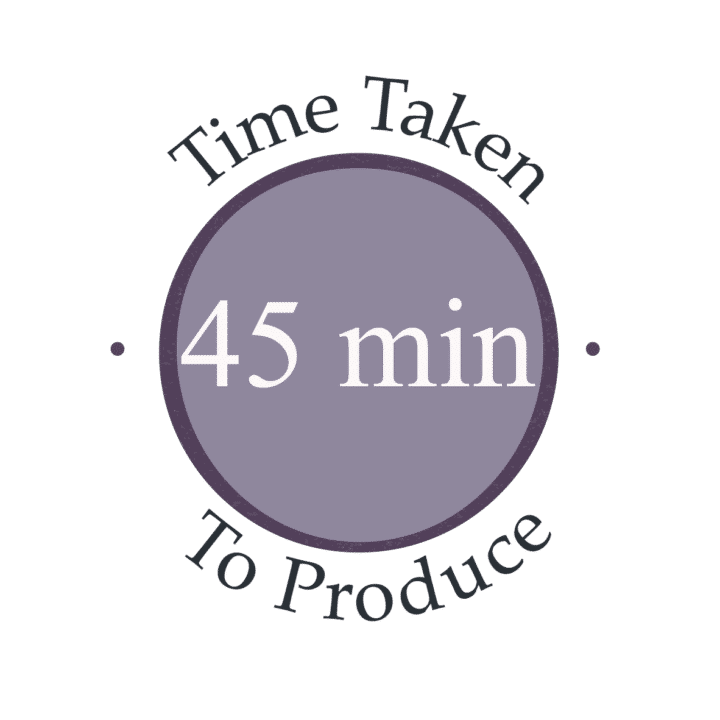 45 minutes to make