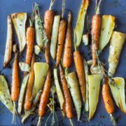 christmas carrots and parsnips