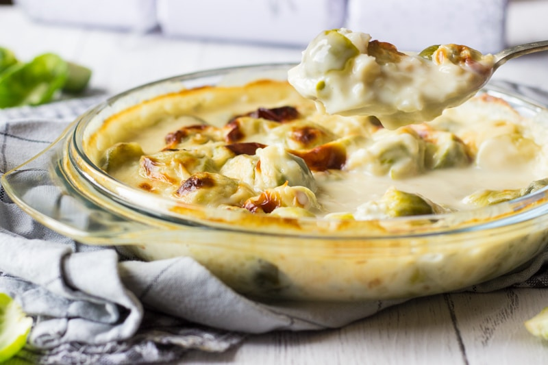 christmas sprouts cheese sauce