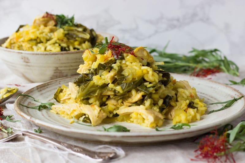 turkey tarragon and saffron risotto