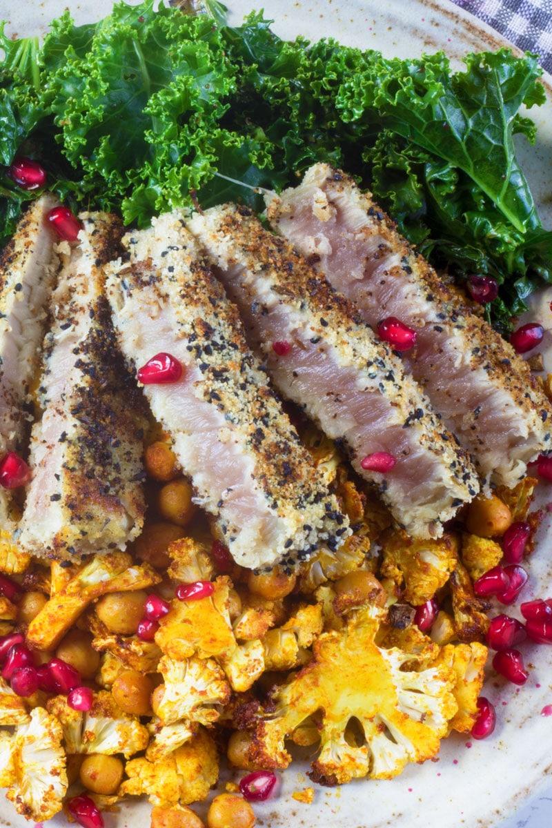 cumin and nigella tuna steak