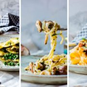 Homemade pasta dishes