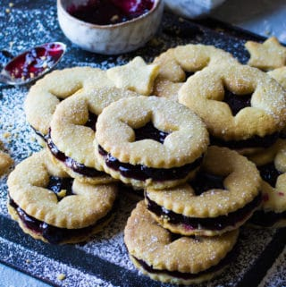 blackcurrant jam biscuits