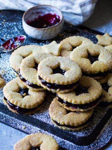 blackcurrant jam biscuits