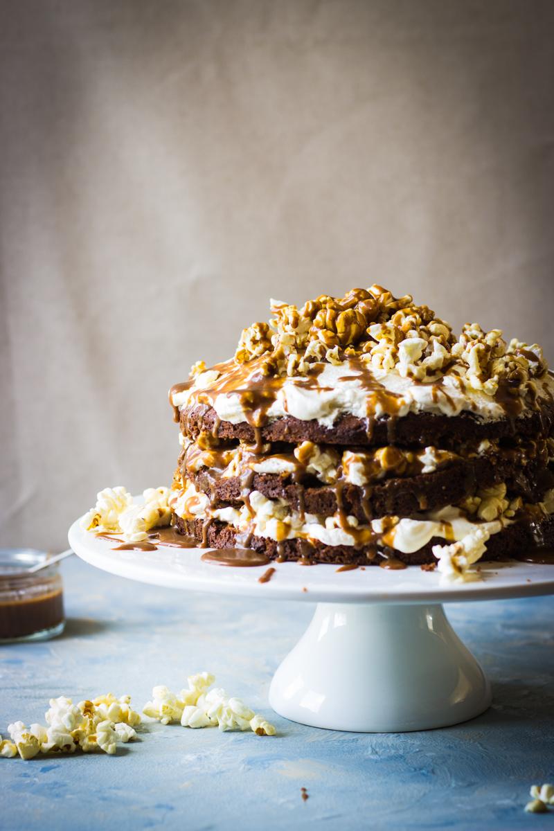 toffee popcorn cake