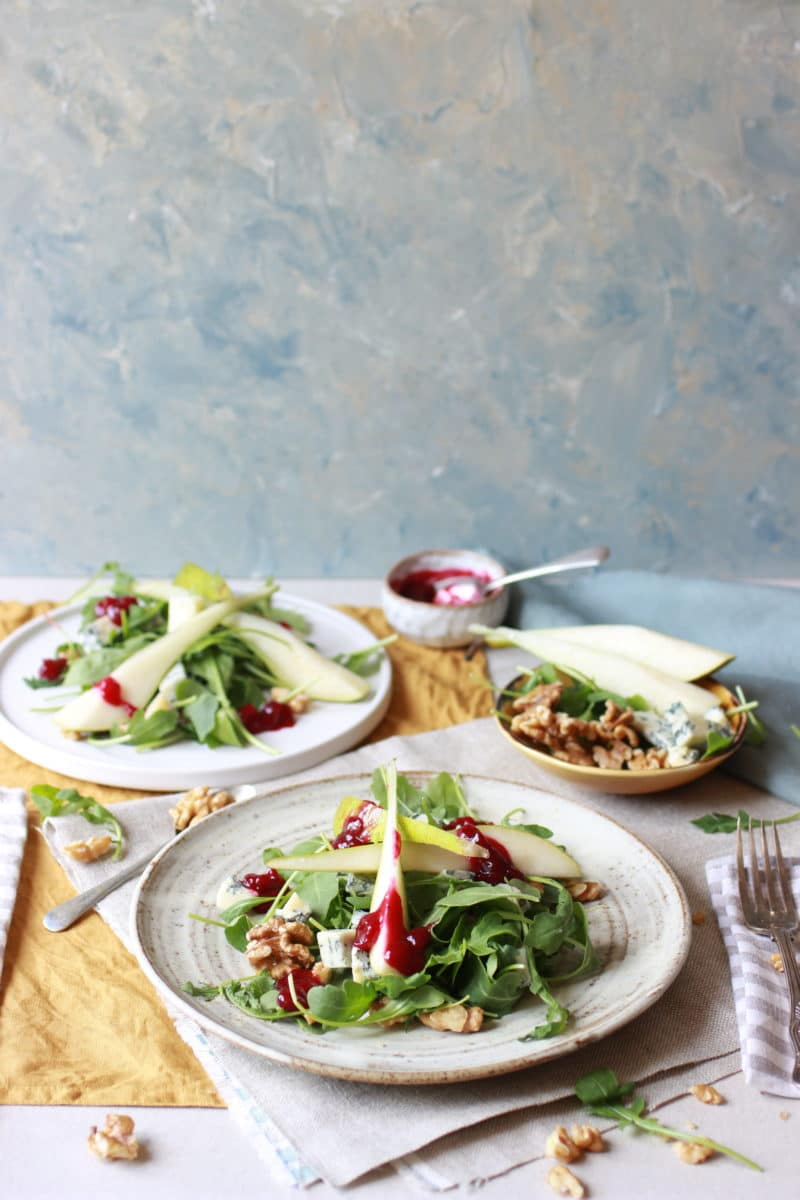 Image for English Provender food company - pear salad with beetroot chutney