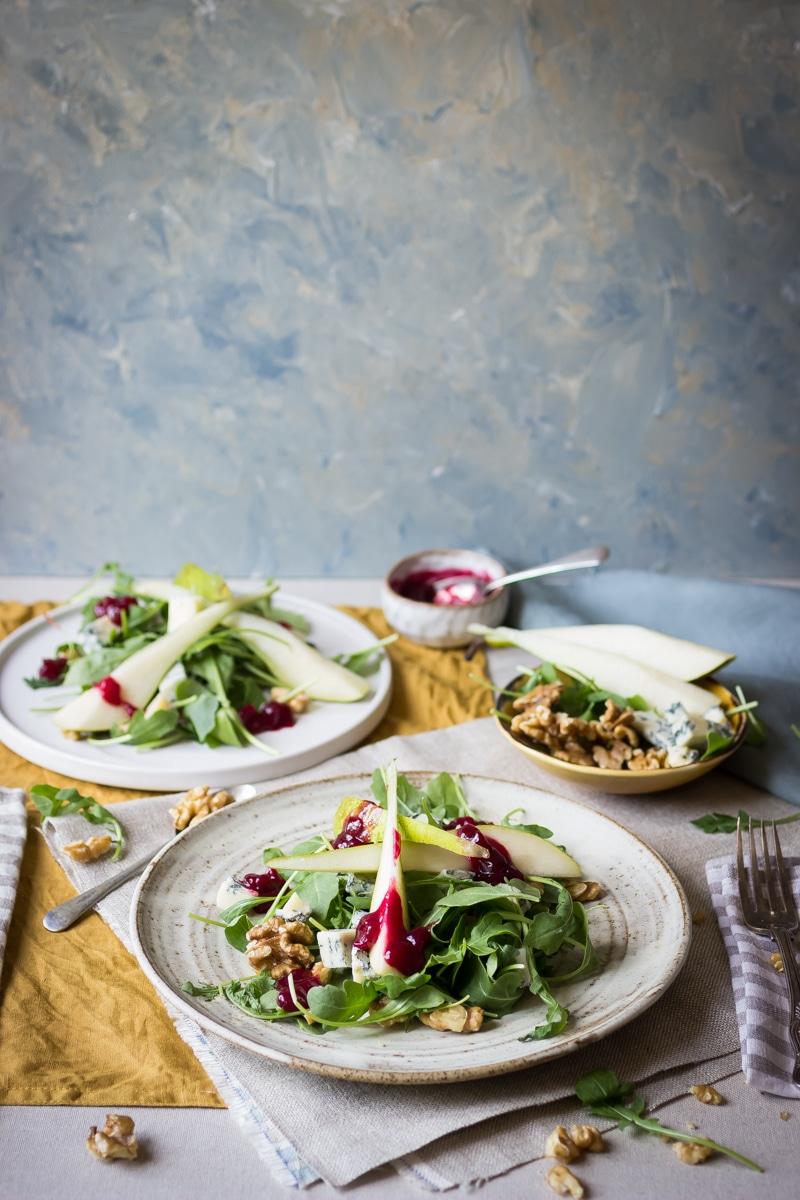 Fresh fruit and nut salad