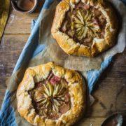 allotment rhubarb apple galette