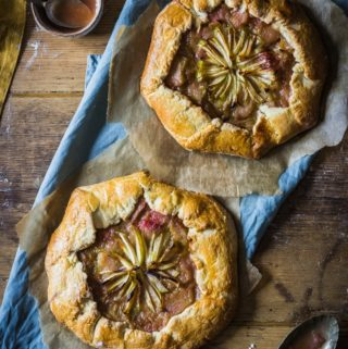 allotment rhubarb apple galette