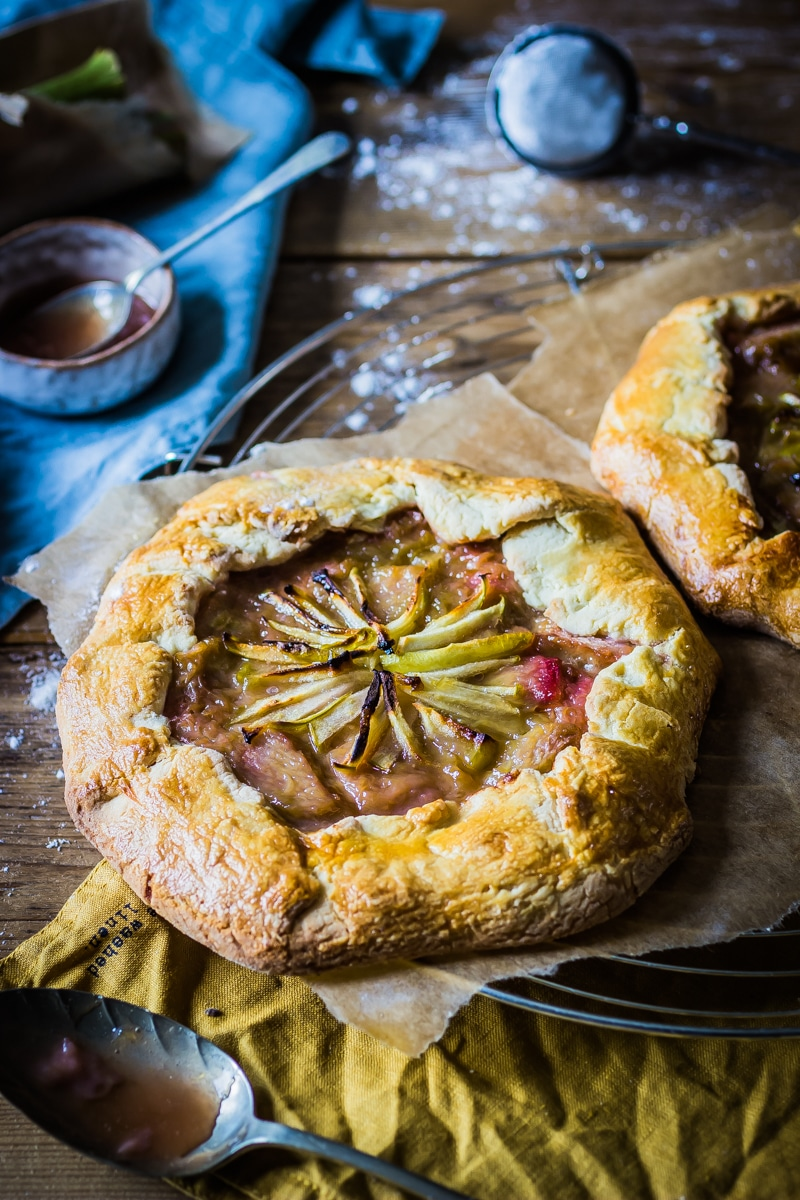 rhubarb and apple galette