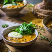 split pea and spicy chicken soup