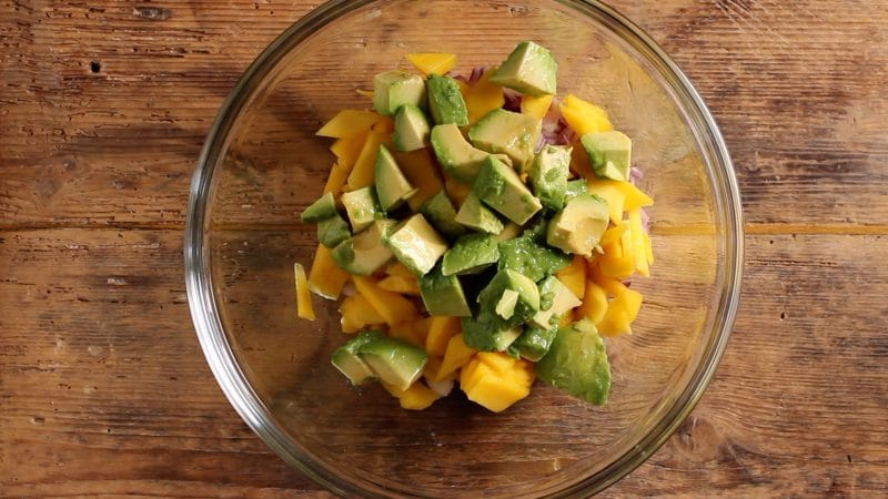 avocado for mango avocado salad