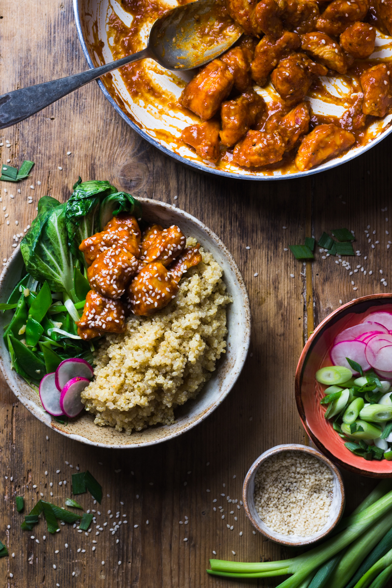 sesame chicken recipe with quinoa