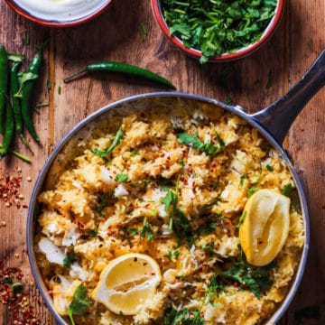 fish biryani with yogurt