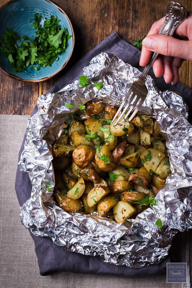 roast garlic butter potatoes