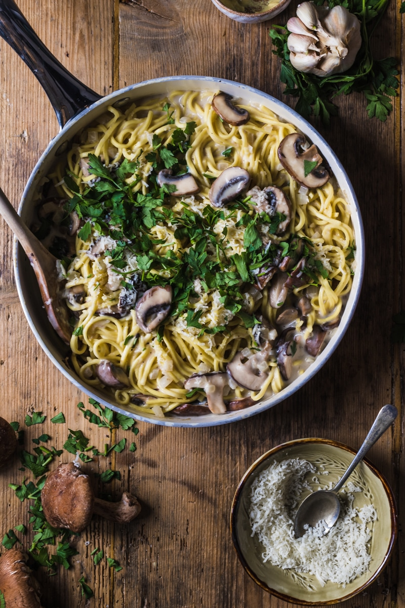 Image for Sunday Supper Movement website - Mushroom pasta