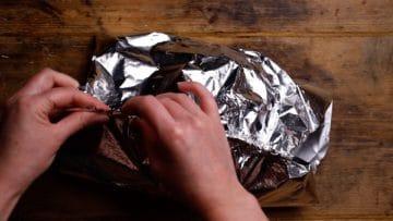 wrap and close foil