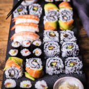 How to make sushi rolls at home. The ultimate step-by-step guide and recipe video. With full instructions for making maki sushi, California rolls, dragon rolls and nigiri sushi