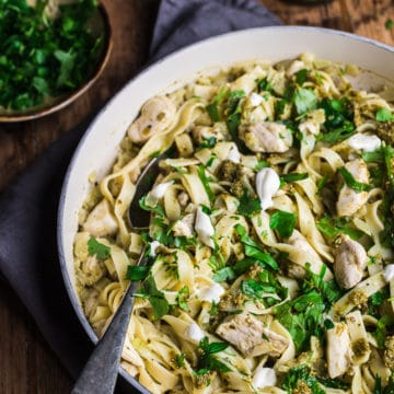 chicken pesto pasta with belazu pesto