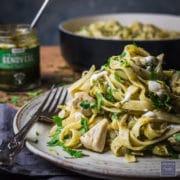 pasta with chicken pesto