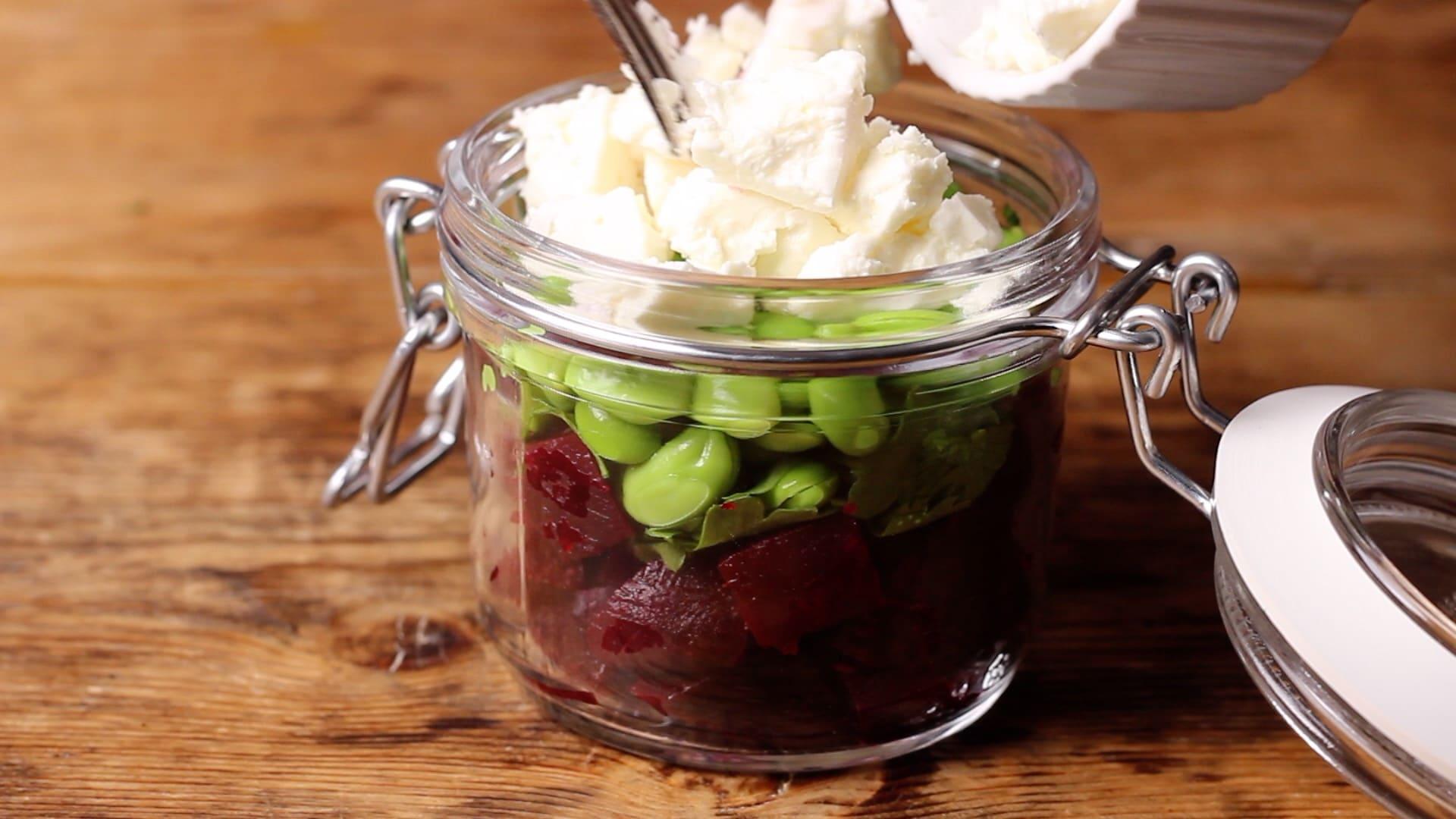 beetroot salad with feta
