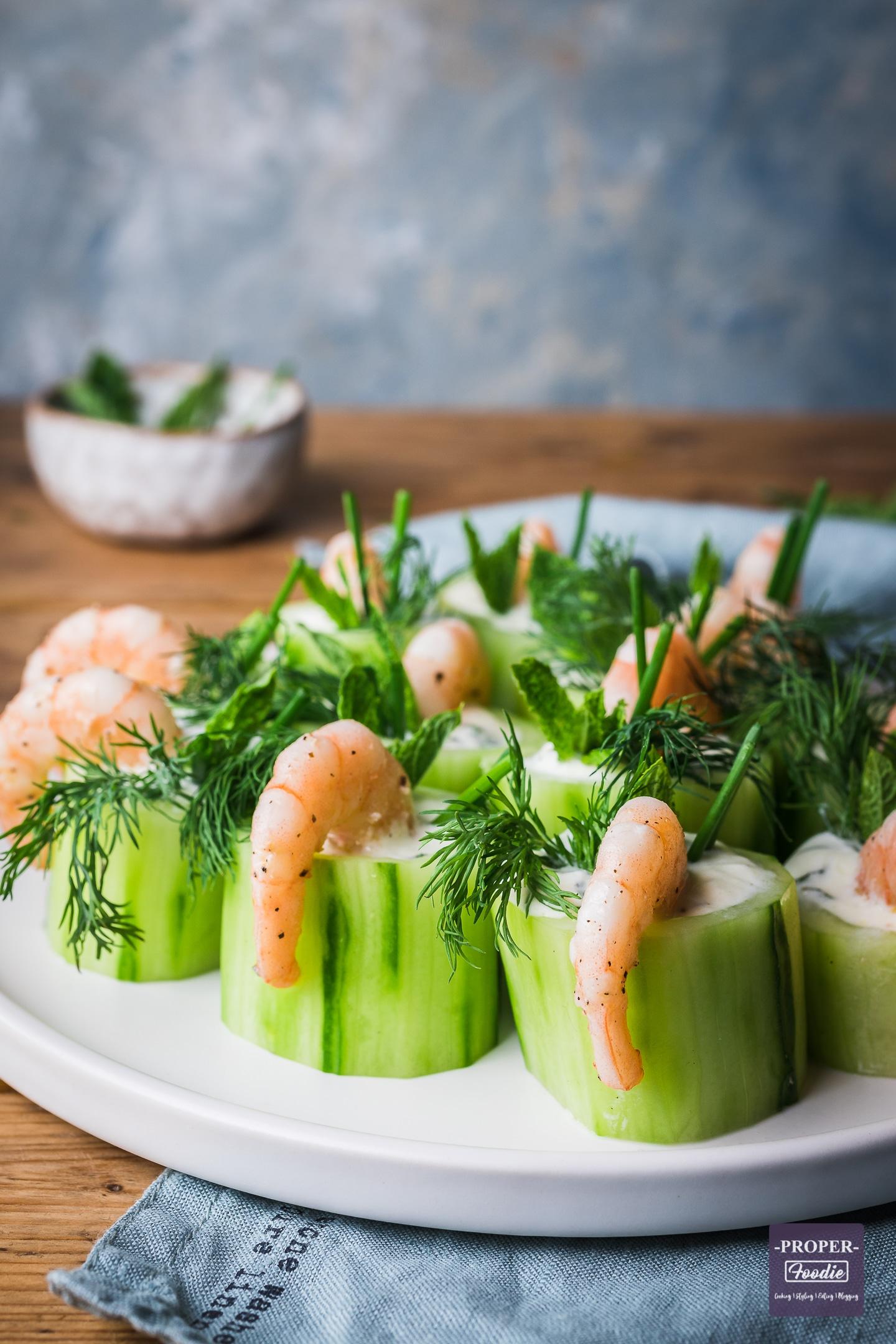 cucumber and prawns