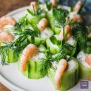 cucumber shrimp canapes