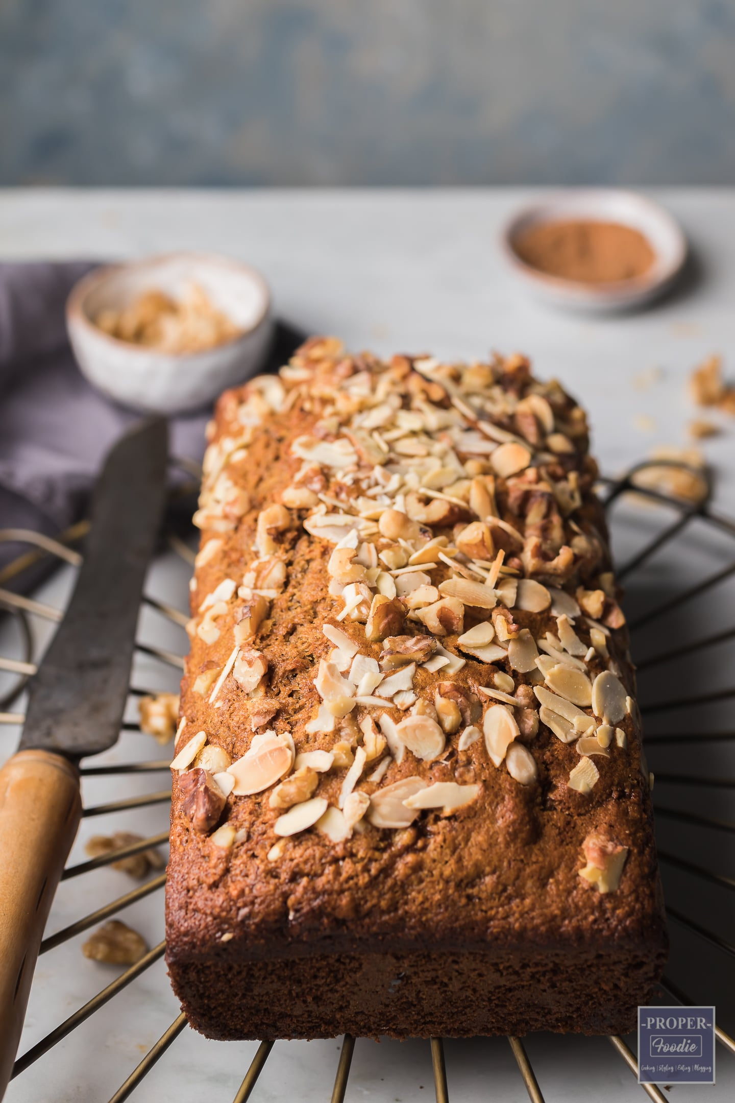 healthy banana loaf