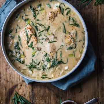 Chicken and leeks recipe