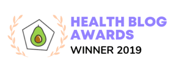 Health blogger awards winner of best recipe blog 2019