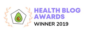 Health blogger awards winner of best recipe blog 2019