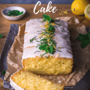 Lemon drizzle cake recipe made from scratch with fresh lemons. Topped with lemon syrup, lemon icing, fresh mint and lemon zest.